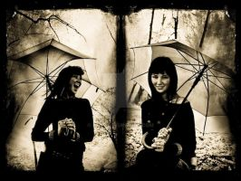 ...girl with umbrella... by ag90