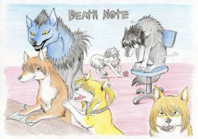 Death Note Wolves by jawazcript