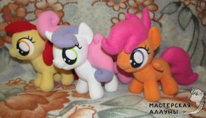 Cutie mark crusaders plushies by AllunaKitsune