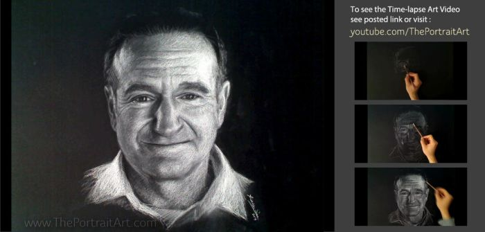 Robin Williams - A Tribute with Art Video-see link by theportraitart