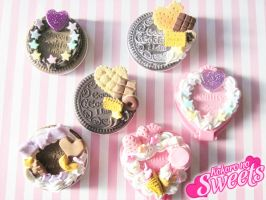 Deco Cookie and Heart Mirrors by kpossibles