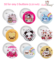 Kawaii 2.25 inch buttons by tho-be