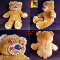 Creepy Caine the Bear plush by Undead-Art