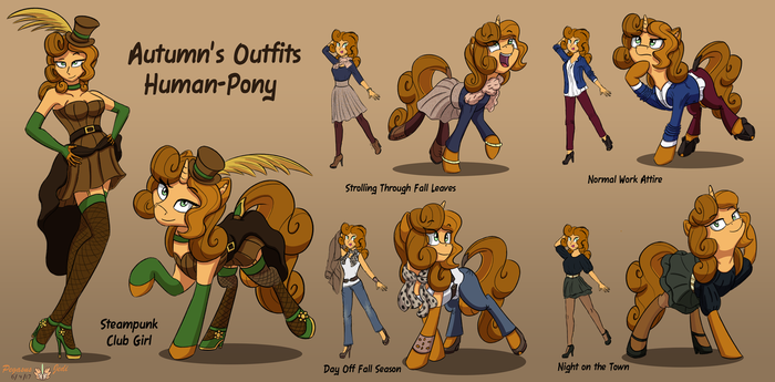 Autumn's Outfits: Human to Pony Versions by PegasusJedi