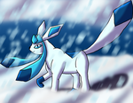 Shiny Glaceon-Powder Snow by DragonessBlue