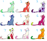 Fruity kitty adoptables by HoneyspydeR