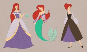 Ariel outfits by scaragh