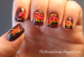 Chinese New Year Nail Art by ProlificMuse