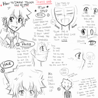 [Tutorial] How to draw Tsuna - Part 1 by moenitas