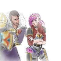 Vi and Jayce by izzy1992