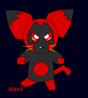 black the pichu by gin-the-lonewolf