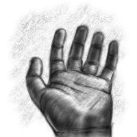 Hand study by Delun