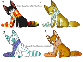 CLOSED - Foxes Adoptables 58 by LeaAdoptables