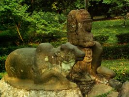 Nandi and a divinity by in2ni
