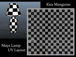 Lamp UV Map in Maya 2011 by TwinkleCarnage