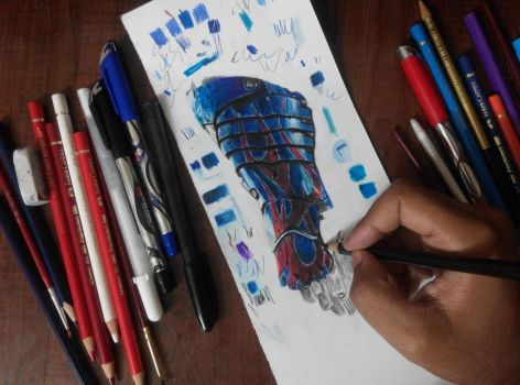 Optimus prime arm drawing practice by artistic-otaku-taran