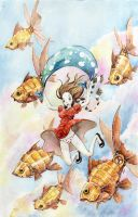 Fishes likes panties by Acualina