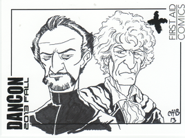 Master and 3 uncolored DanCon sketch card by Rashomonchb