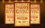 Thanksgiving Flyer Template by MatteoGianfreda94