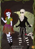 Jack and Sally Fairies by WaterLily-Gems