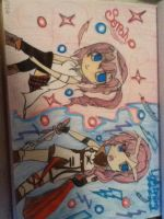 Serah and Lightning by SkyeAngel-gone-Rouge