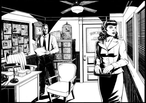 P.I. Bruce Wayne and client Vicki Vale by craigcermak