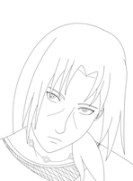 Itachi-lineart by Itygirl