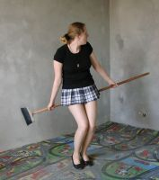 playing with a broom 4 by indeed-stock