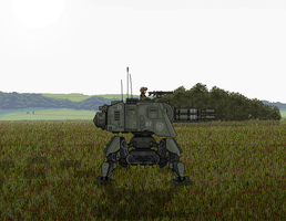 Sentinel Walker in Grass Fields by BlastWaves