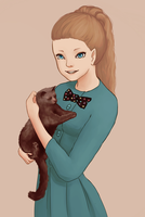 My cat and I by 4liceg