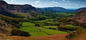 The lush green of a valley bottom by LordLJCornellPhotos