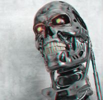 Another T-800 in 3-D by MVRamsey