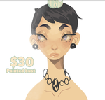 $30 painted bust by Ame-nii