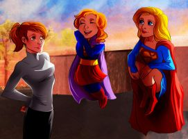 NewSisters Supergirls Comm by MistyTang by kclcmdr