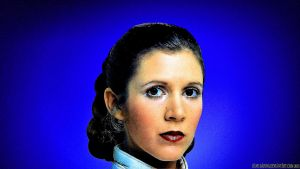 Carrie Fisher Princess Leia XXV v2 by Dave-Daring