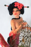 ooak Geisha Mermaid by incantostudios