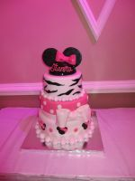 Minnie Mouse Zebra Cake by Keep-It-Sweet