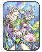 Wolf Mage Diana Watercolor by lady-cybercat