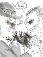 Joker vs. Rorschach by Omnipotrent