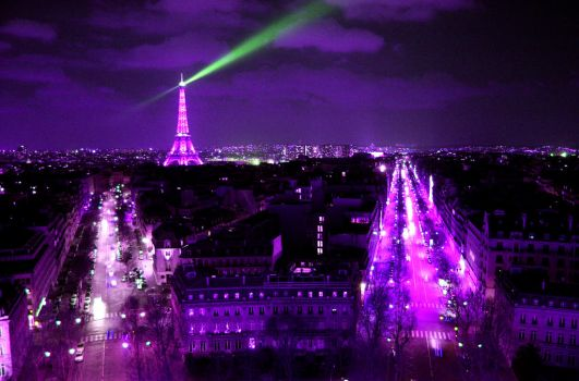 Purple Paris by fotografE