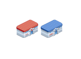 Pokemon Center and Pokemart by Shonly