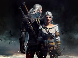 Witcher 3 Geralt and Ciri uber quality by Scratcherpen