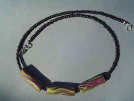 Polymer Clay Bead Necklace by tyshalae
