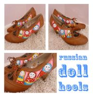 Russian Doll Shoes by ponychops