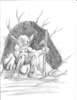 Goblin Primitive in Graphite by myriadesigns