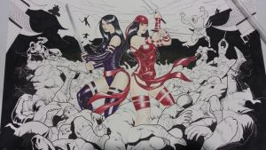 heroescon commission elektra psylocke by Sajad126