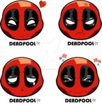 Deadpool chibi face - Happy, angry, sad, excited by digikolobong