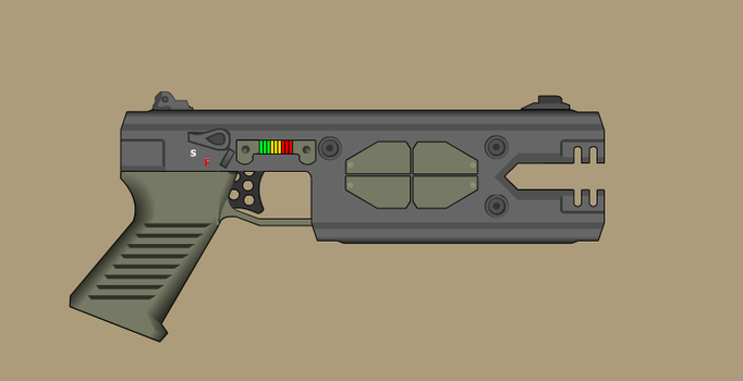 Beam Pistol by AtholTheDestroyer
