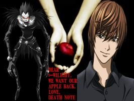 Death Note Wants their apple. by MistressYukiTraigen