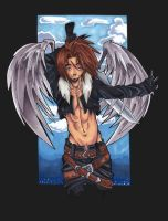 winged squall colored by BlackInfinity666